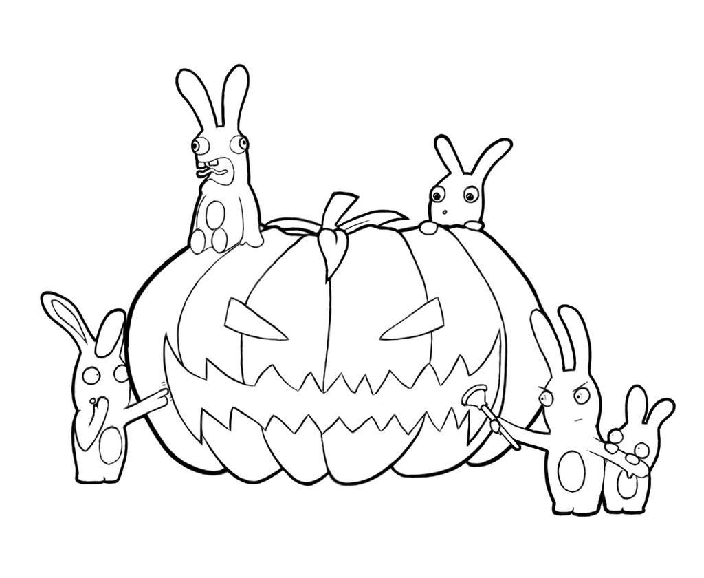 Line Art Halloween : Rabbid halloween lineart by zethxd on deviantart