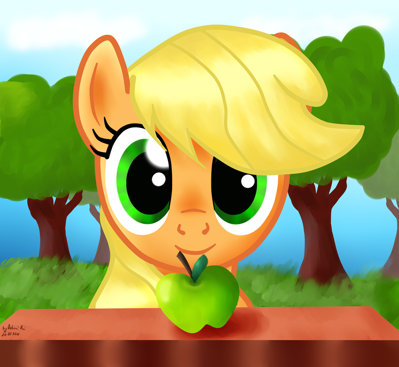 Applejack by 0okami-0ni