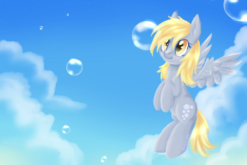 derpy_and_bubbles_by_0okami_0ni-d72jqwd.