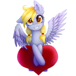 Derpy with heart