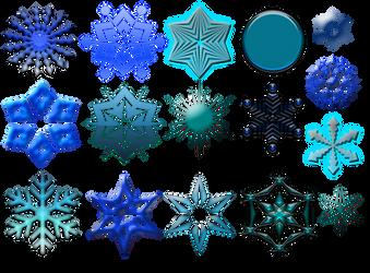 Snowflake Collection (FREE!) by CorneliaFlamenco