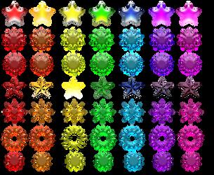 Rainbow Stars (FREE stock) by CorneliaFlamenco