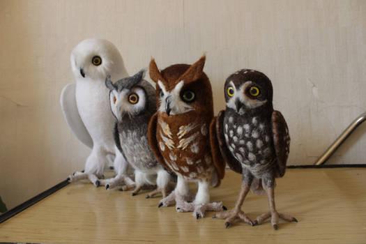 Felted Owl Army