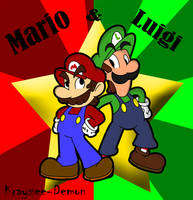Mario and Luigi by Krayzee-Demon