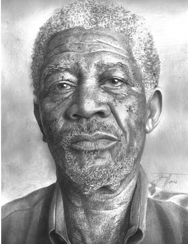 Morgan Freeman Drawing By Urosh1991 On Deviantart