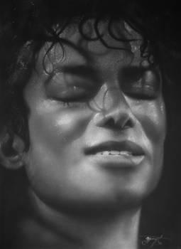 Michael Jackson airbrush portrait