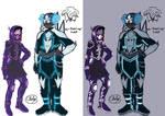 Cherry and Bo (oc) new hero suit.
