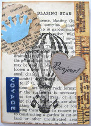 Vintage ATC - With A Book Page