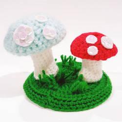 Alice in Wonderland Mushroom Garden