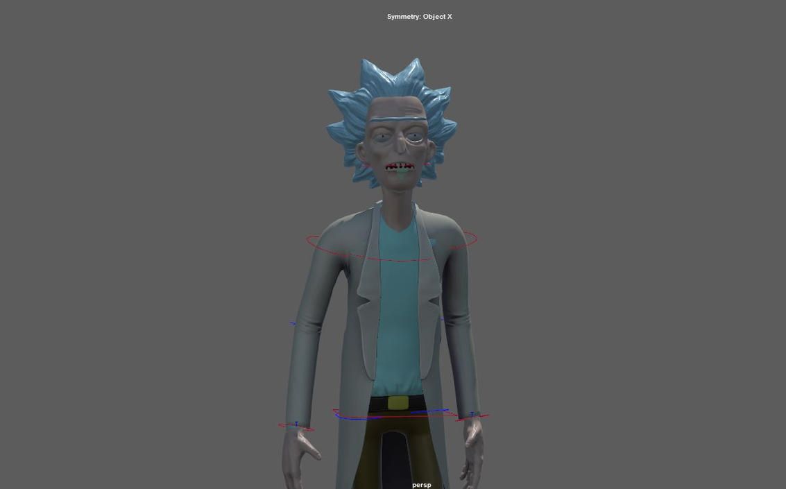 Rick Sanchez Animation test  CHECK OUT THE LIN by Red-Hots