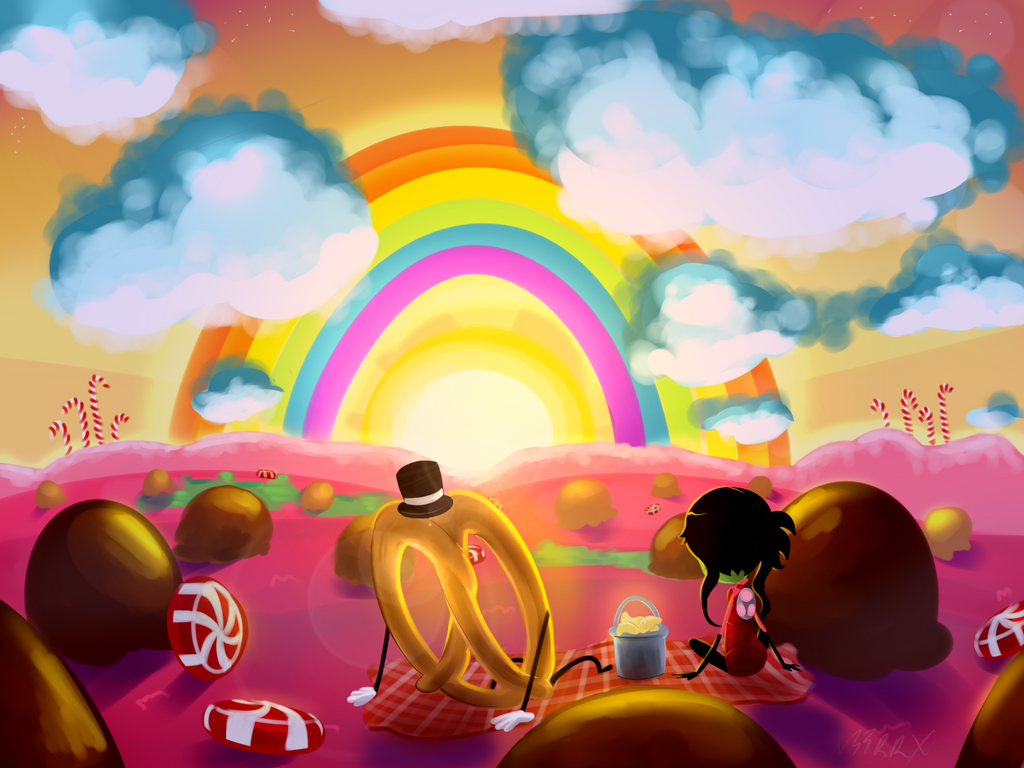 Candy World Sunset by n33rrx on DeviantArt