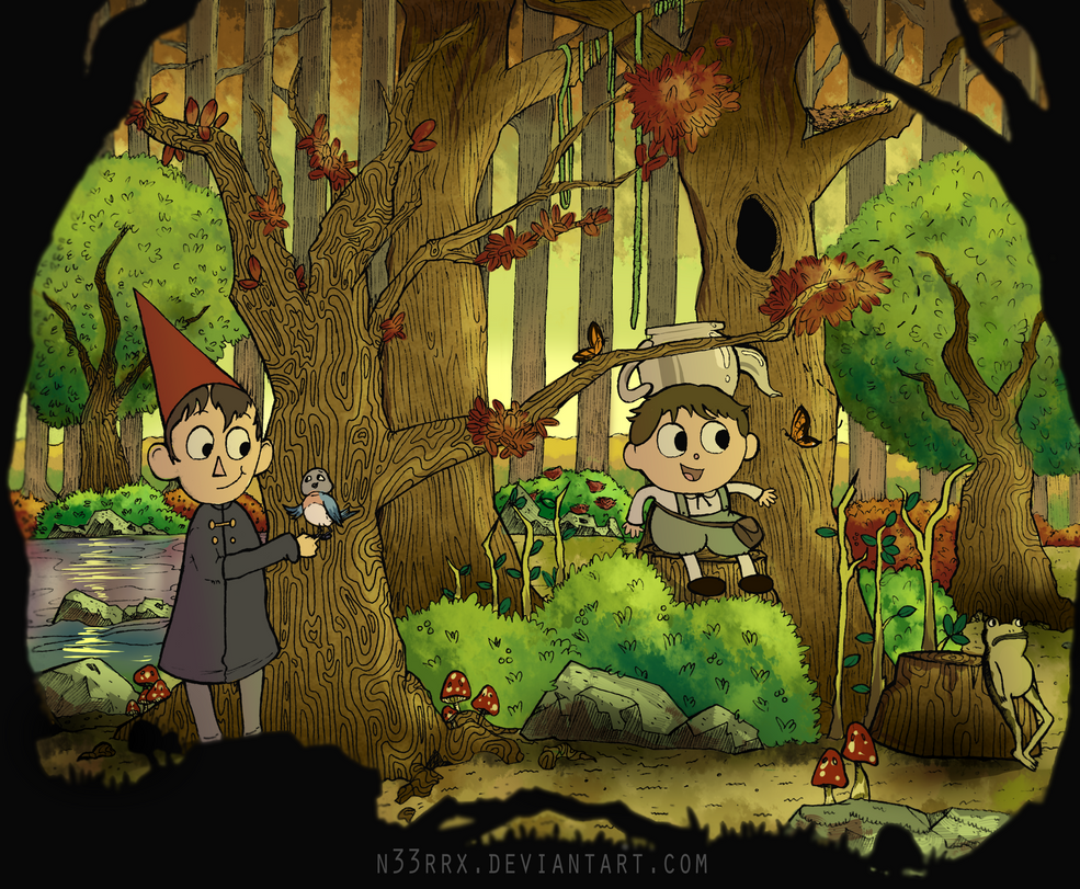 Over The Garden Wall Ink Drawing (Colored) by n33rrx on DeviantArt