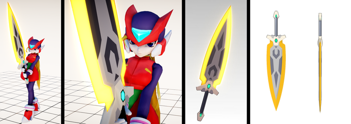 Z-BLADE (Model O-Z Sword) MMD