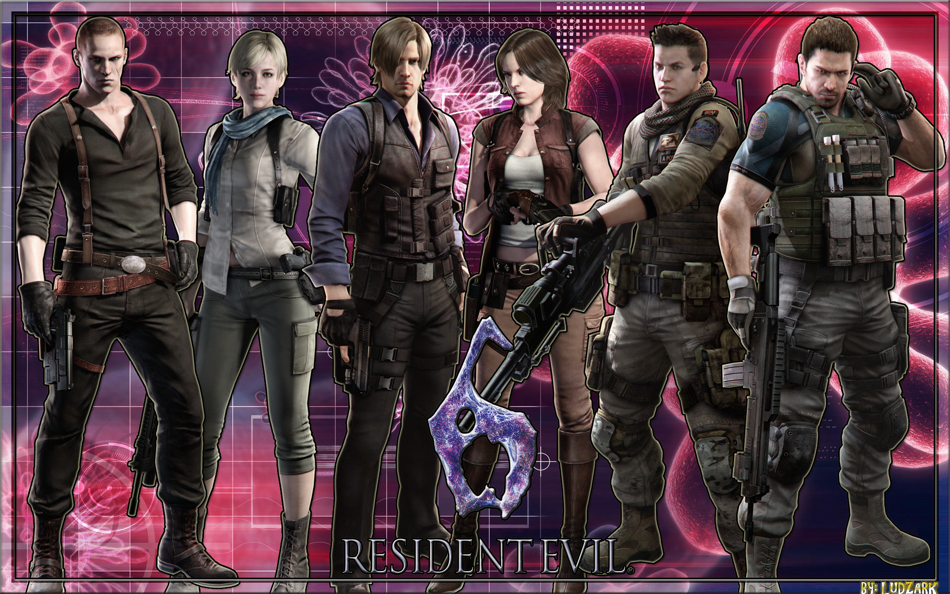 Group Of Resident Evil 6 Characters Wallpaper