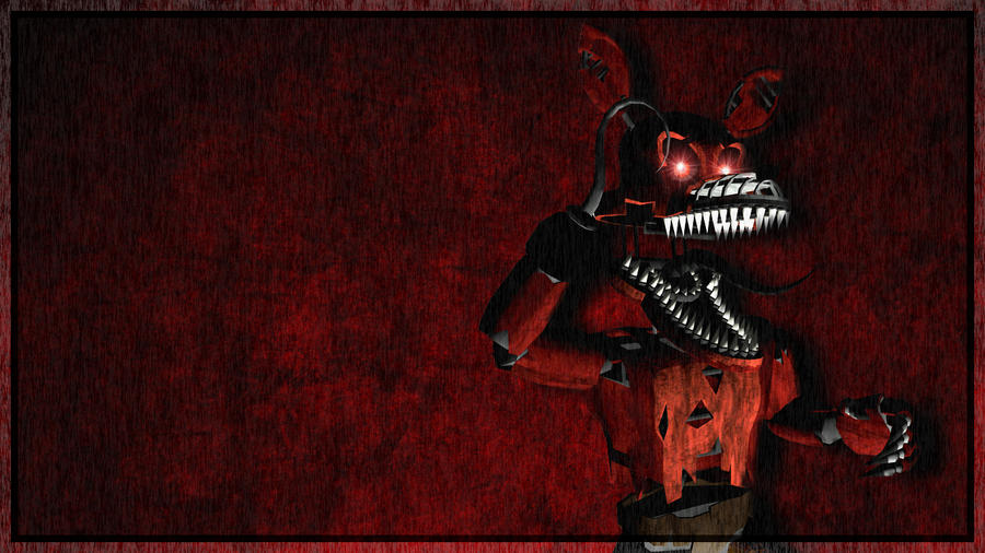 Nightmare Foxy Wallpaper by Ludzark on DeviantArt