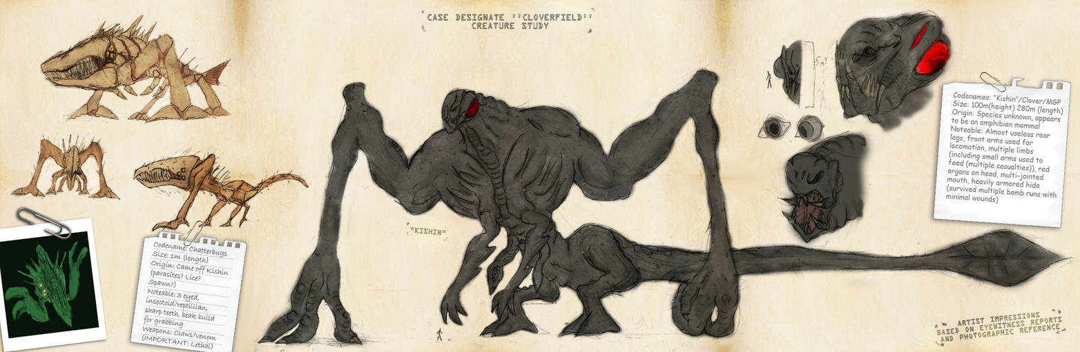 Cloverfield monster study by Ra88 ...