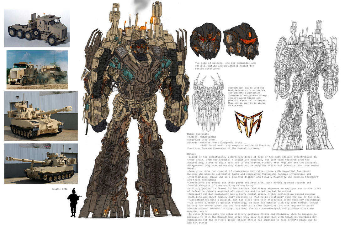 Concept Art Combaticons Onslaught Transformers 3