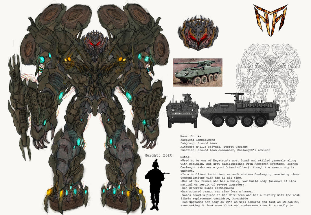 Concept Art Combaticons Strika Transformers 3