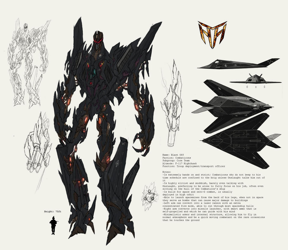 Concept Art Combaticons Blast-Off Transformers 3