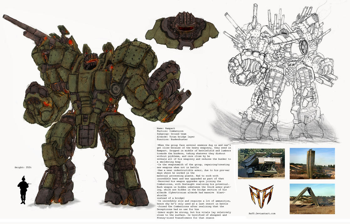 Concept Art Combaticons Rampart Transformers 3