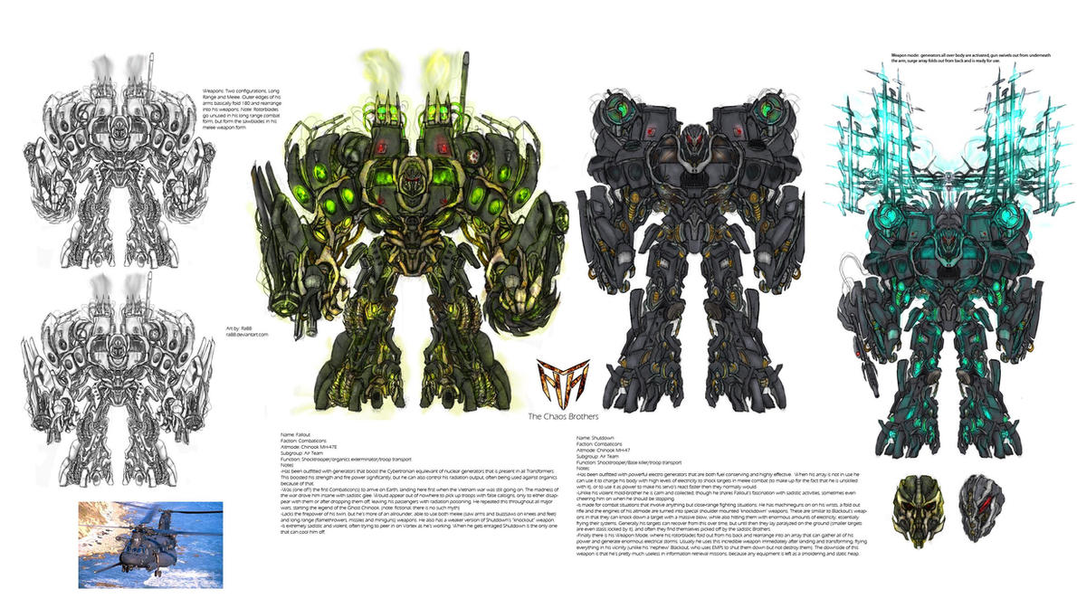 Concept Art Combaticons Fallout Shutdown Transformers 3