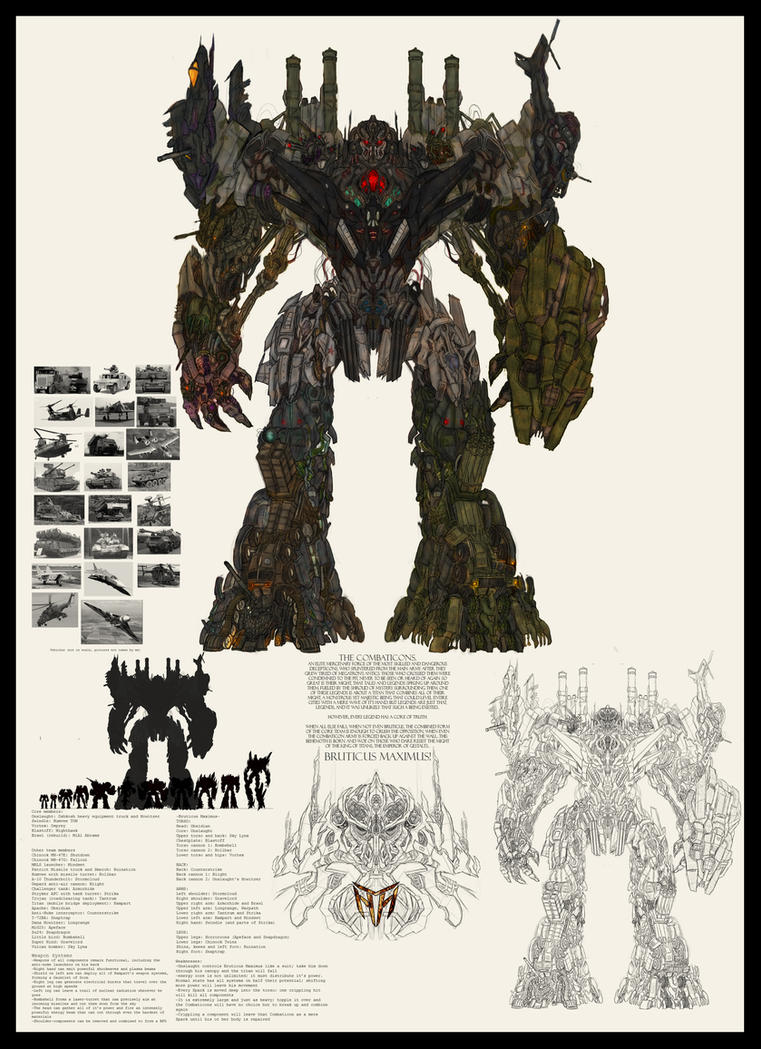 Thumb Concept Arts of The Combaticons and Bruticus for Transformers 3 (Fanmade)