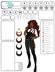 Tilly reference character sheet