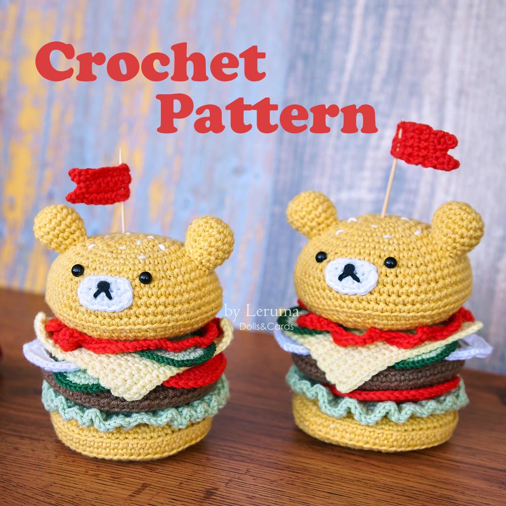Amigurumi Burger, Drink and Frees Crochet ⋆ Crochet Kingdom | 1024x1024