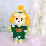 Plush Isabelle in kimono from Animal Crossing