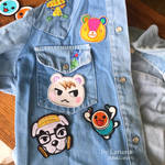 Animal crossing embroidered patches by LerumaDolls