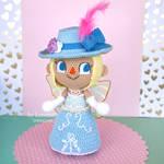 Crochet female villager from Animal Crossing