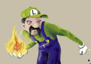 Luigi has a bad temper