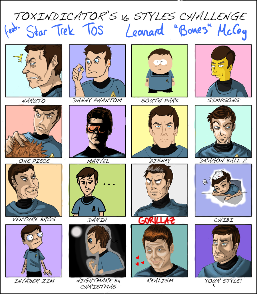 McCoy 16 styles challenge meme by YuriJojo
