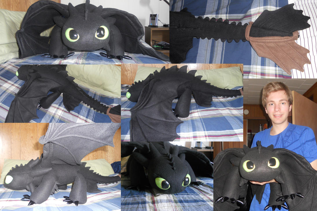 Toothless. My Night Fury Plush by Super3dcow
