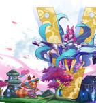 Teemo and Ahri_LOL (Spirit blossom fan art) 1/6
