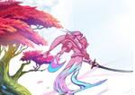Yone soul _LOL (Spirit blossom fan art) 1/6