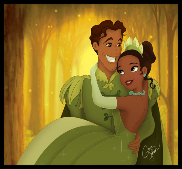 Princess Tiana Art: Tiana And Naveen-2 By Cor104 On DeviantArt