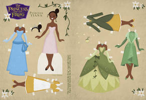 Retro Tiana Paper Doll by Cor104