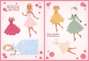 Retro Glinda Paper Doll by Cor104
