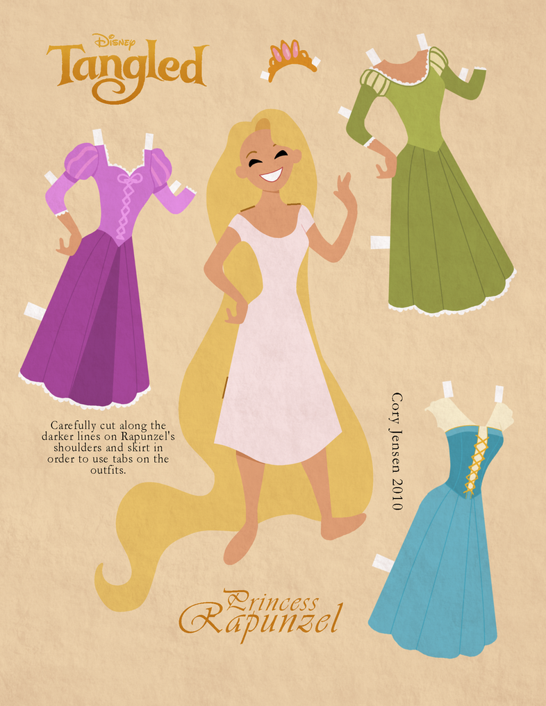 Retro Paper Doll- Rapunzel by Cor104