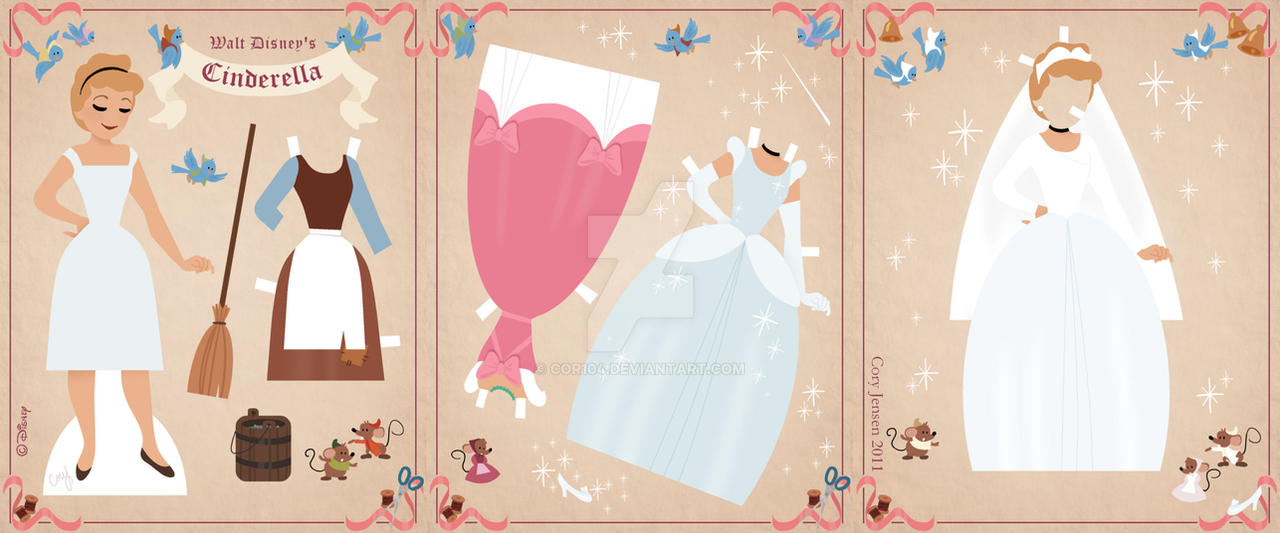 Cinderella Paper Doll by Cor104