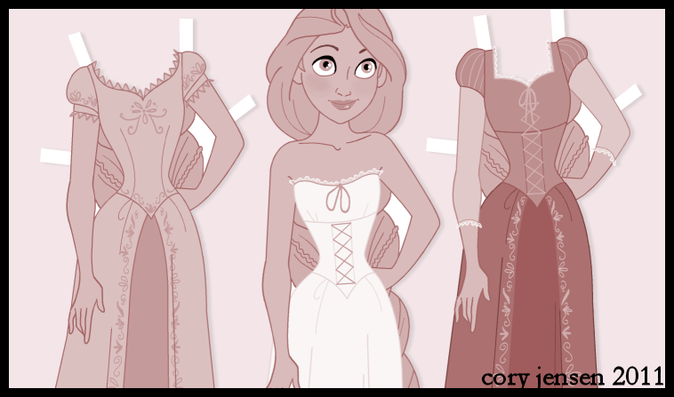 Rapunzel Paper Doll Sneak Peak by Cor104