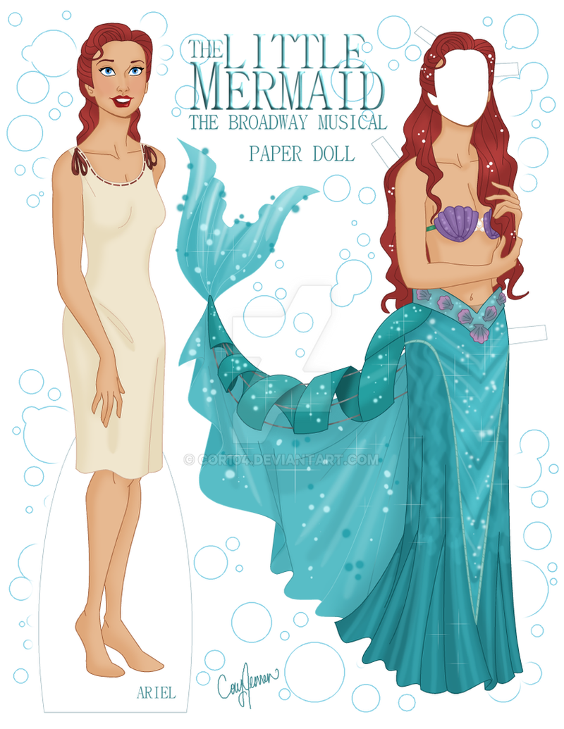 Ariel on Broadway Paper Doll by Cor104