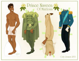 Prince Naveen Paper Doll by Cor104