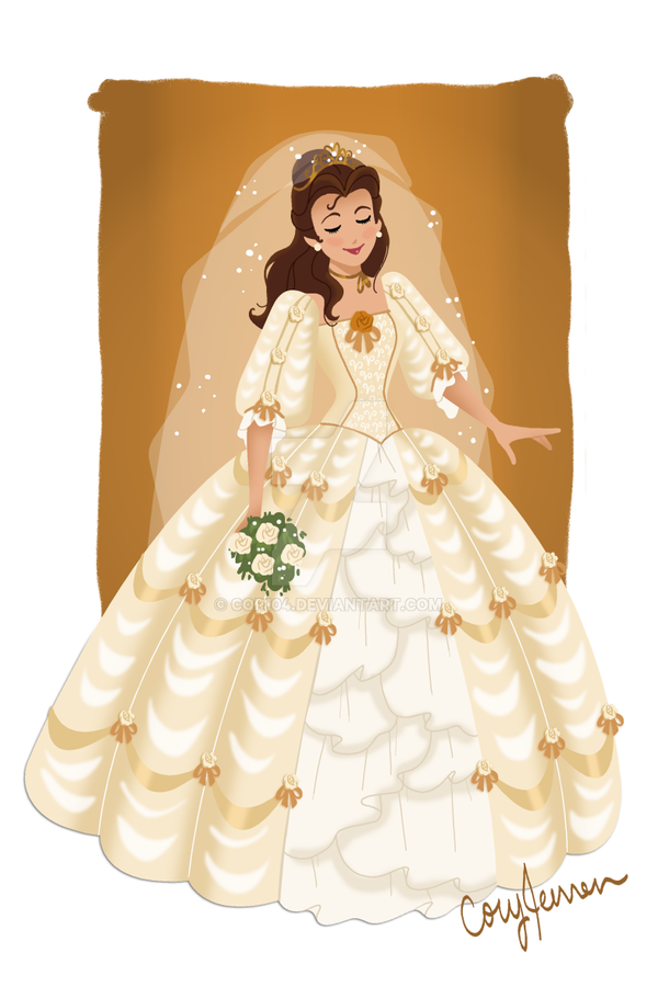 belle wedding gown by cor104 on deviantart