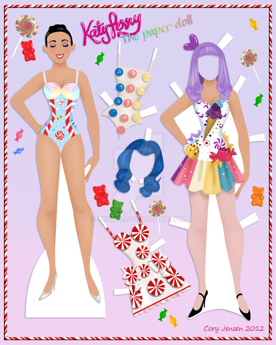 Katy Perry Paper Doll
