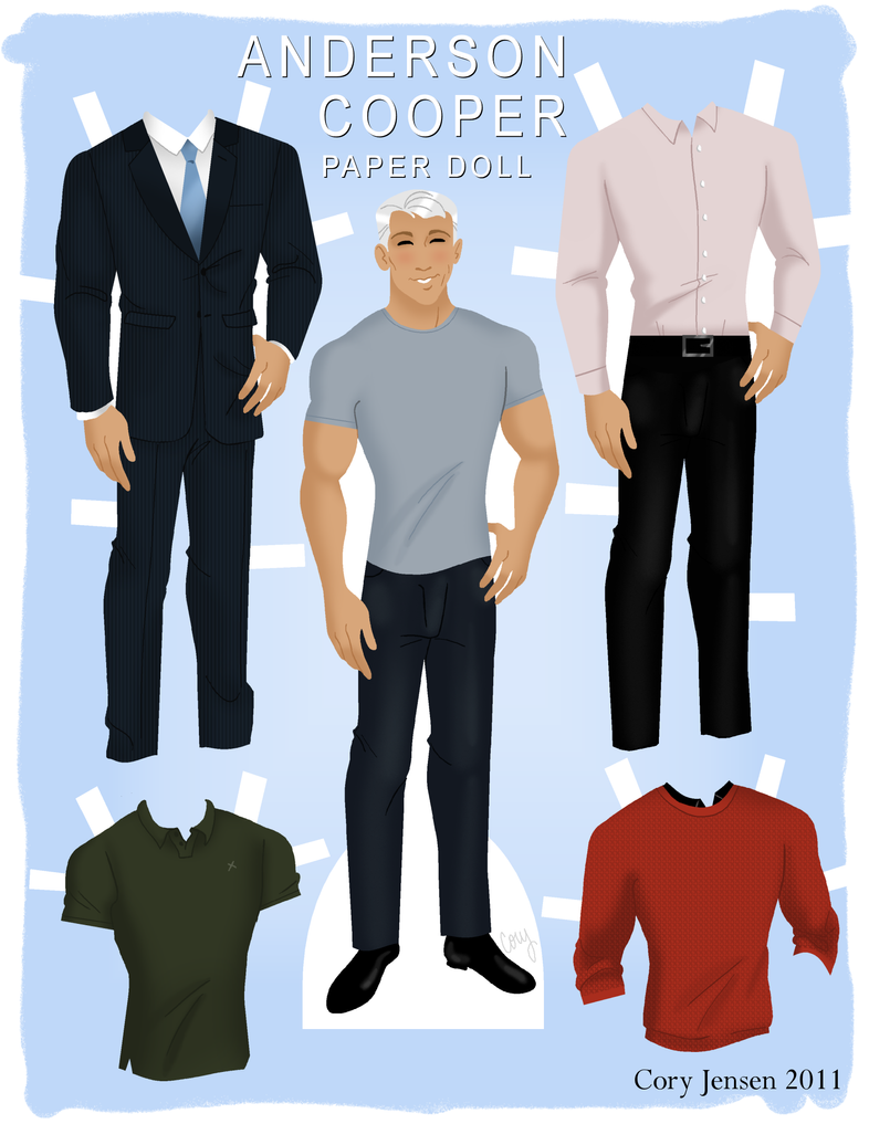 Anderson Cooper Paper Doll by Cor104