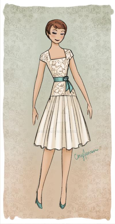 Short Wedding Dress Design by Cor104