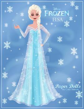 Elsa Paper Doll Preview