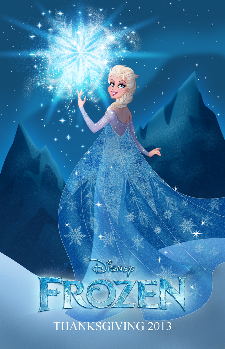 Frozen: Elsa Fan Poster by Cor104